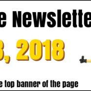 Newsletter for April 28, 2018