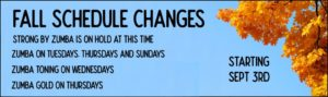 Fall Schedule Changes 2019