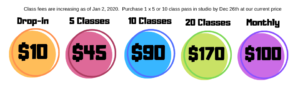 Class fee increase 2020 - Zumba Lizy - Zumba Classes in Victoria BC