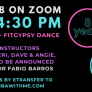 8th Zinversary party now Online with 8 instructors!